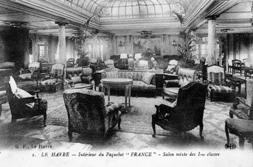 "Intérieur du paquebot ""France"" - Salon mixte des 1res classes"