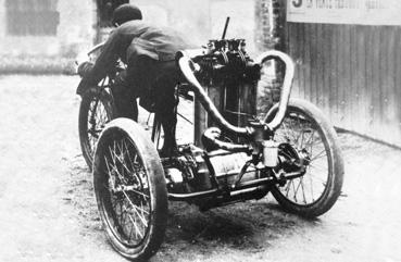 Tricycle à moteur