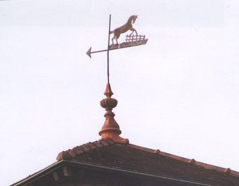 Corps de logis - Détail de la girouette du château d'eau