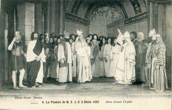 La passion de N.-S. J.-C. à Blain, 1925 - Jésus devant Caïphe